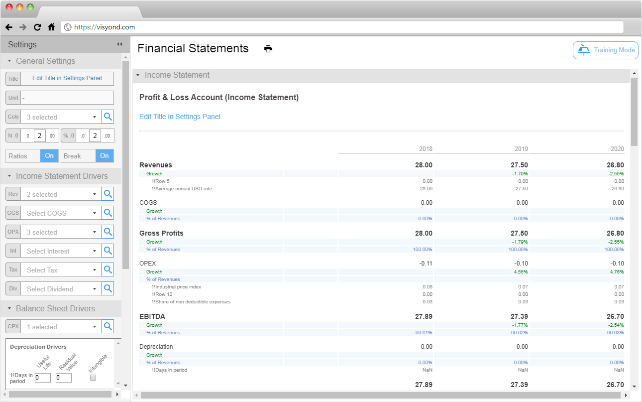 online financial statement generator visyond