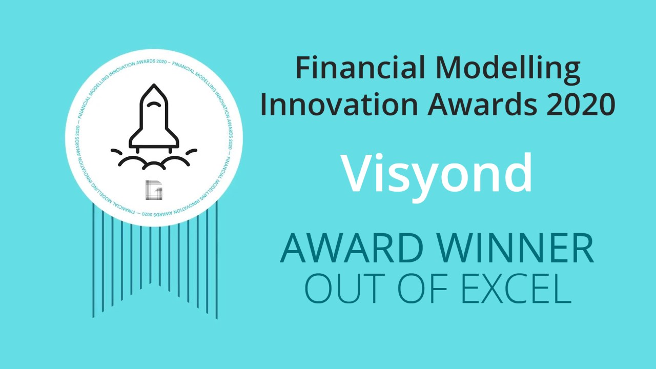 Financial Modelling Innovation Awards Out Of Excel Category Winner - Visyond